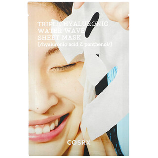 Cosrx, Hydrium, Triple Hyaluronic Water Wave Beauty Sheet Mask, 1 Sheet Mask, 0.67 fl oz (20 ml)