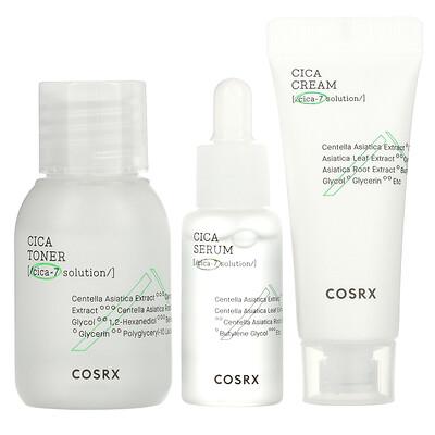 Cosrx Cica-7 Relief Kit, For Sensitive Skin, 3 Piece Kit
