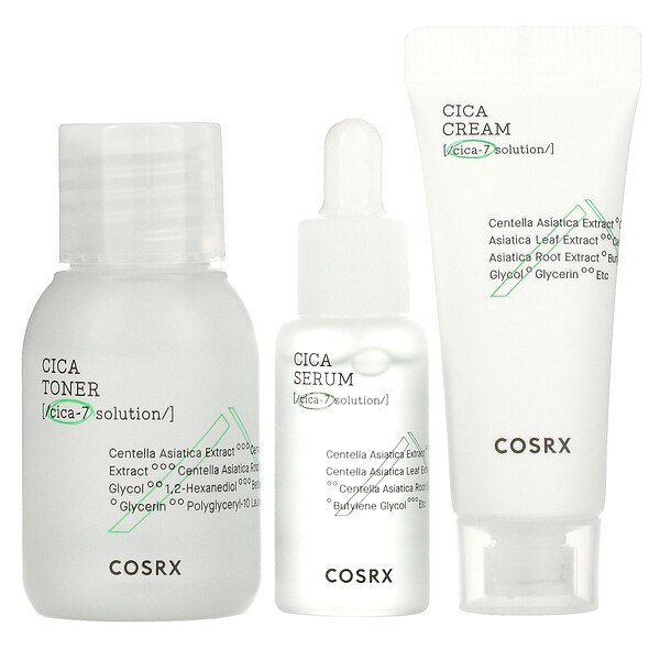 Cica-7 Relief Kit, For Sensitive Skin, 3 Piece Kit