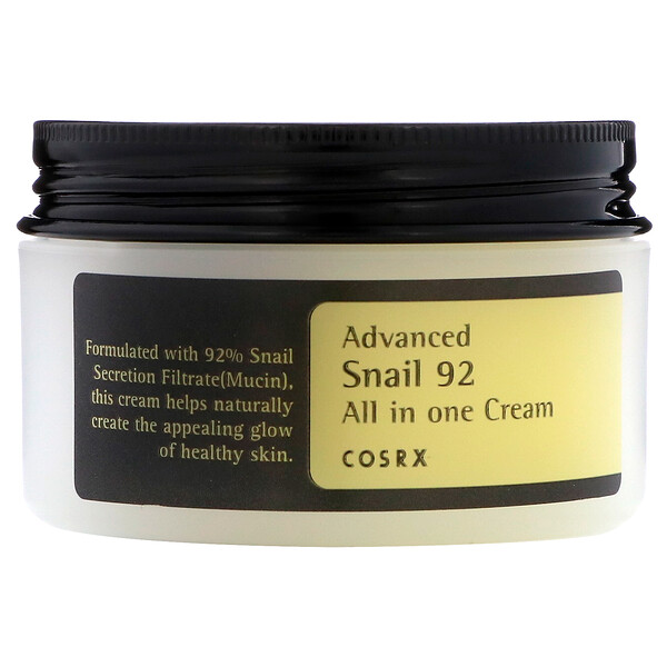 Cosrx, Advanced Snail 92, todo en una crema, 100 ml