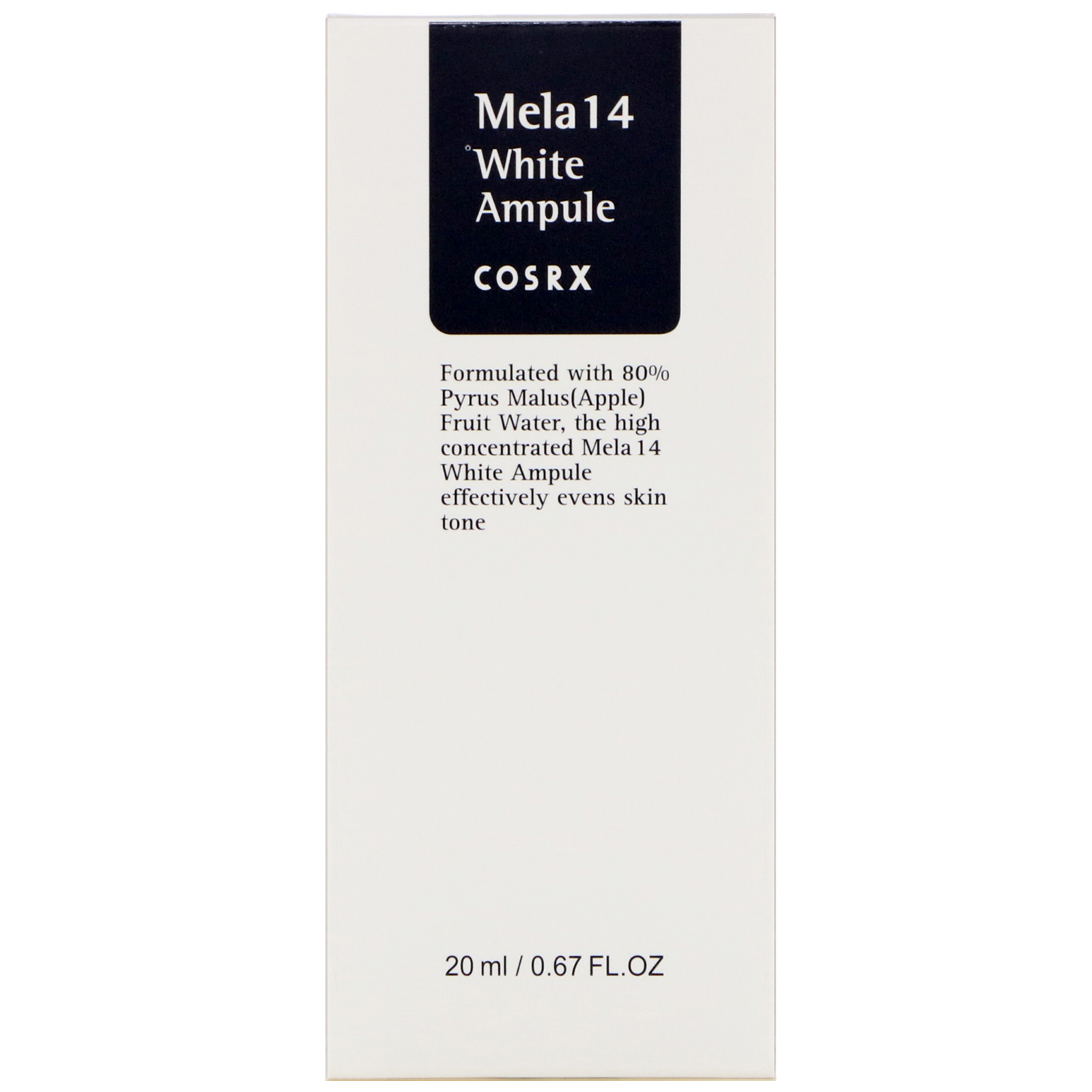 Cosrx, Mela 14 White Ampule, 0.67 fl oz (20 ml). By Cosrx