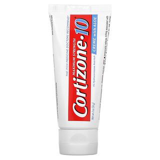 Cortizone 10, 1% Hydrocortisone Anti-Itch Creme with Aloe, Maximum Strength, 2 oz (56 g)