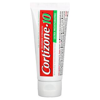 Cortizone 10, 1% Hydrocortisone Anti-Itch Creme, Plus Ultra Moisturizing, Maximum Strength, 2 oz (56 g)