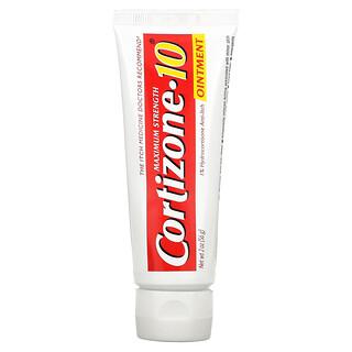 Cortizone 10, 1% Hydrocortisone Anti-Itch Ointment, Water Resistant, Maximum Strength, 2 oz (56 g)