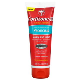 Cortizone 10, Anti-Itch Lotion For Psoriasis, Maximum Strength, 3.4 oz (96 g)