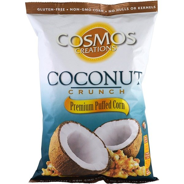 Cosmos Creations, Premium Puffed Corn, Coconut Crunch, 6.5 oz (184.3 g) (Discontinued Item)