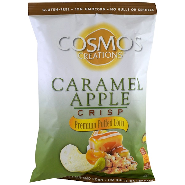 Cosmos Creations, Maíz inflado prémium, manzana y caramelo crocante, 6 oz (170 g)