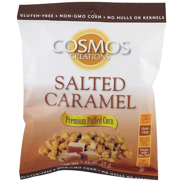 Cosmos Creations, Premium Puffed Corn, Salted Caramel, 1.25 oz (35 g) (Discontinued Item)