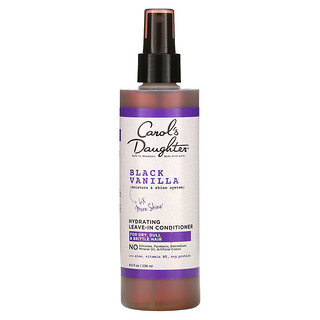 Carol's Daughter, Black Vanilla, Moisture & Shine System, Hydrating Leave-In Conditioner, For Dry, Dull & Brittle Hair, 8 fl oz (236 ml)