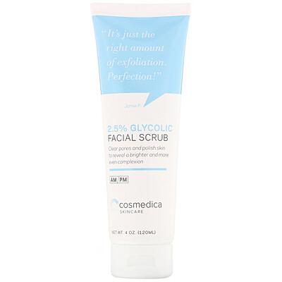 Купить Cosmedica Skincare Скраб для лица с 2, 5%-ным содержанием гликоля, 4 унции (120 мл)