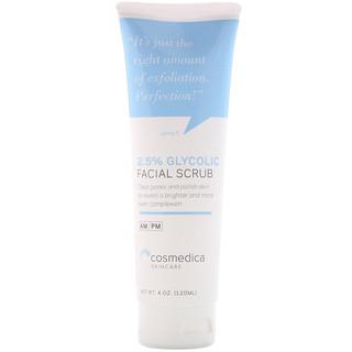 Cosmedica Skincare, Скраб для лица с 2,5%-ным содержанием гликоля , 4 унции (120 мл)