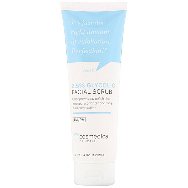 2.5% Glycolic Facial Scrub, 4 oz (120 ml)