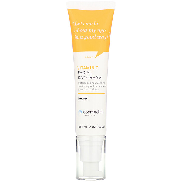 Cosmedica Skincare, Vitamin C Facial Day Cream, 2 oz (60 ml)