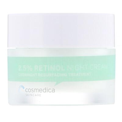 Купить Cosmedica Skincare Ночной крем с 2, 5% сывороткой ретинола, ночная омолаживающая процедура, 50 г (1, 76 унции)