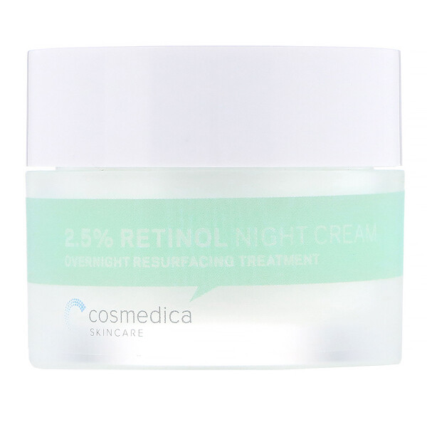 2.5% Retinol Night Cream, Overnight Resurfacing Treatment, 1.76 oz (50 g)