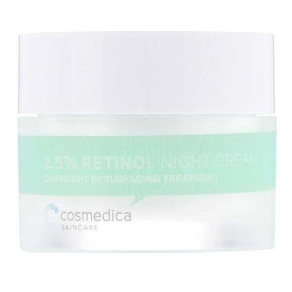 Crema de noche con retinol 2,5%, tratamiento reparador nocturno, 1,76 oz (50 g)