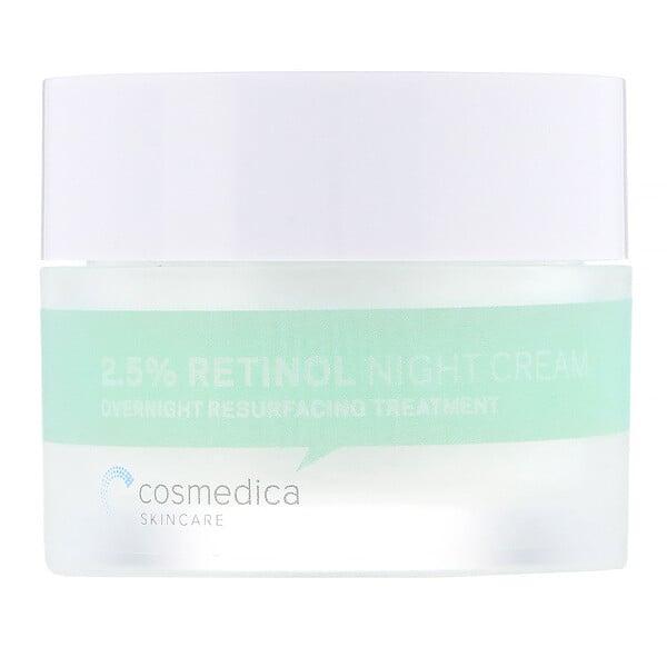 Cosmedica Skincare, Creme Noturno 2.5% Retinol, Tratamento Noturno de Reparo, 1,76 oz (50 g)