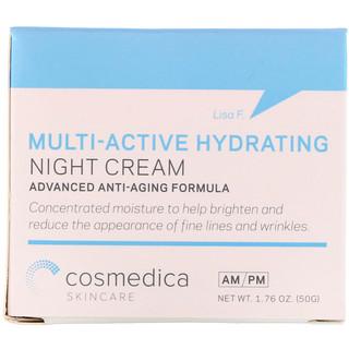 Cosmedica Skincare, Мультиактивный увлажняющий ночной крем, усовершенствованная антивозрастная формула, 1,76 унц. (50 г)