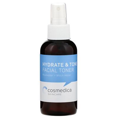 Купить Cosmedica Skincare Увлажняющий и тонизирующий тоник для лица, розовая вода + гамамелис, 4 унции (120 мл)