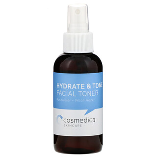 Cosmedica Skincare, 補水滋潤面部爽膚水,玫瑰水 + 金縷梅,4 盎司(120 毫升)