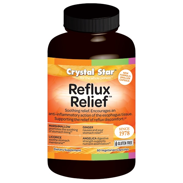 Crystal Star, Reflux Relief, 60 Veggie Caps (Discontinued Item)