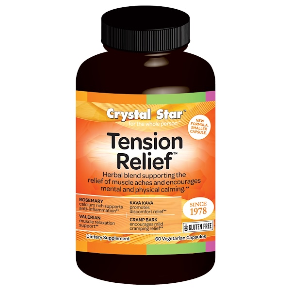 Crystal Star, Tension Relief, 60 Veggie Caps (Discontinued Item)