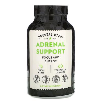 Купить Crystal Star Adrenal Support, 60 Vegetarian Capsules