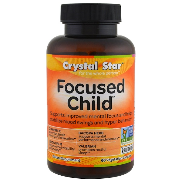 Crystal Star, Focused Child, 60 Veggie Caps (Discontinued Item)