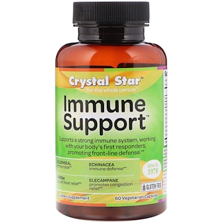 Crystal Star, Immune Support, 60 Veggie Capsules