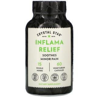 Crystal Star, Inflama Relief, 60 Vegetarian Capsules