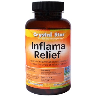 Crystal Star, Inflamma Relief, 60 Veggie Caps