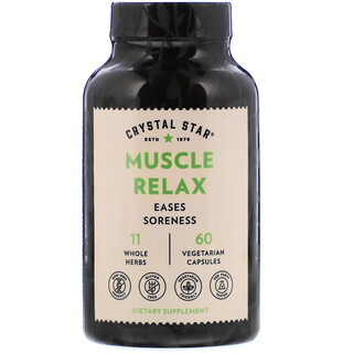 Crystal Star, Muscle Relax, 60 Vegetarian Capsules