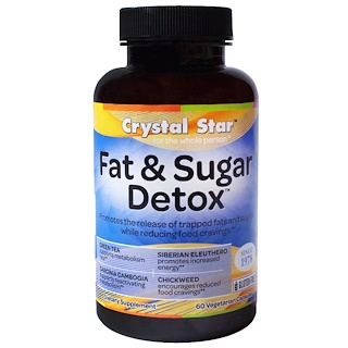 Crystal Star, Fat & Sugar Detox, 60 Veggie Caps