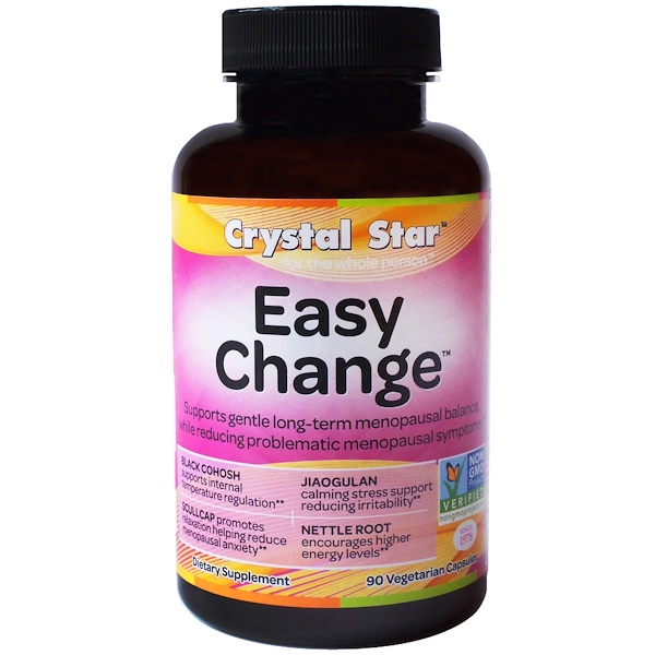 Crystal Star, Easy Change, 90 Cápsulas Veganas