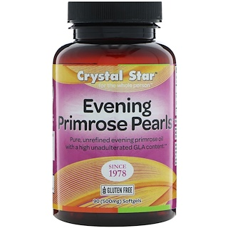 Crystal Star, Evening Primrose Pearls, 500 mg , 90 Softgels