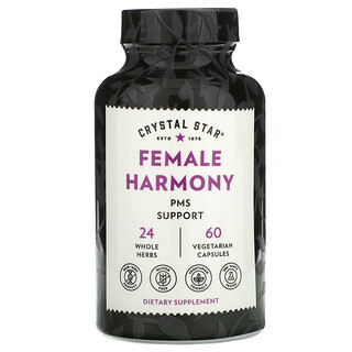 Crystal Star, Female Harmony, PMS Support , 60 Vegetarian Capsules