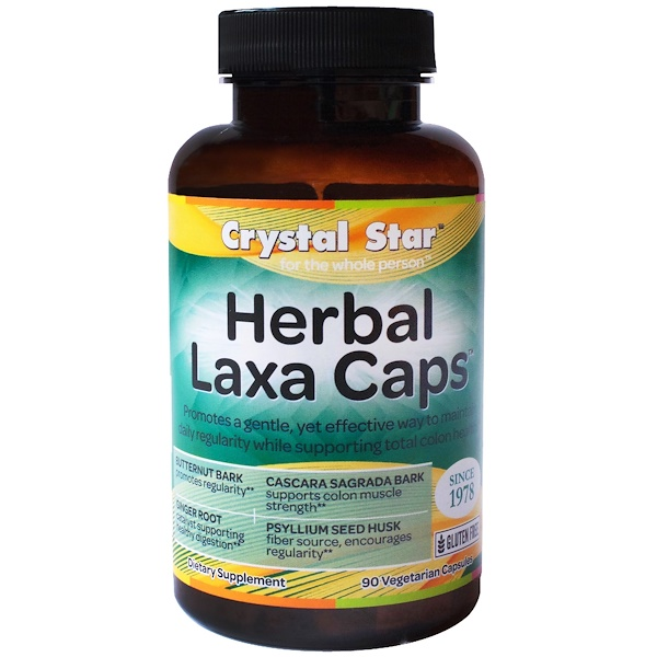 Crystal Star, Herbal Laxa Caps, 90 Veggie Caps (Discontinued Item)