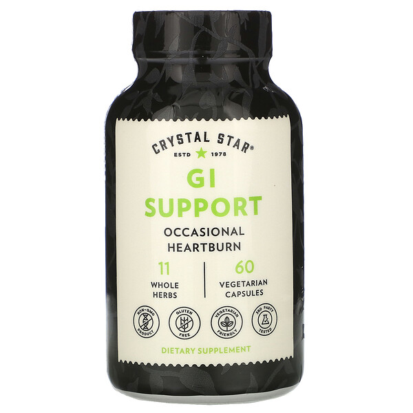 Crystal Star, GI Support, 60 Vegetarian Capsules