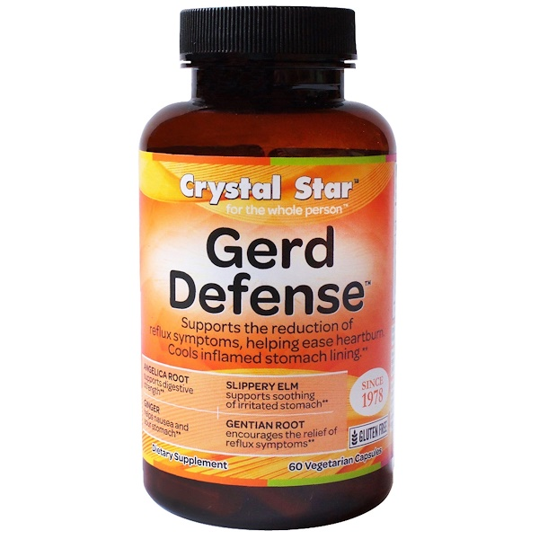 Crystal Star, GERD Defense, 60 Cápsulas Veganas