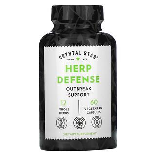 Crystal Star, Defensa contra el herpes, 60cápsulas vegetales