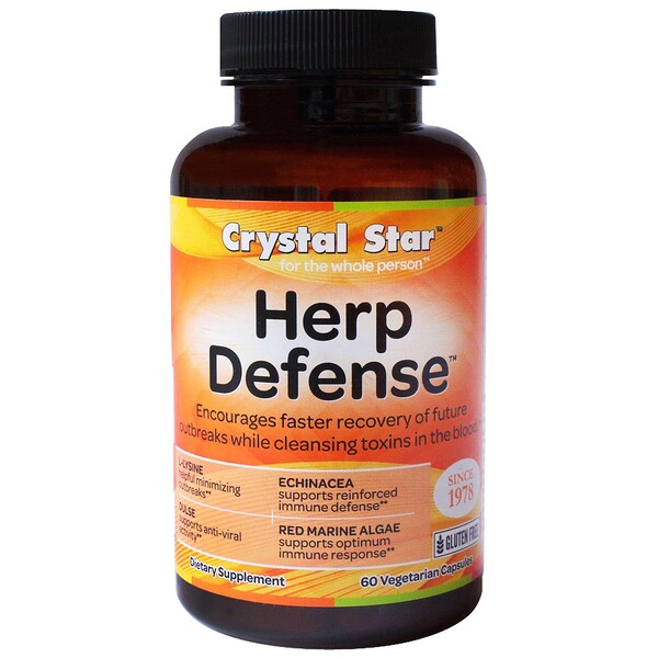 Crystal Star, Herp Defense, 60 Cápsulas Vegetarianas