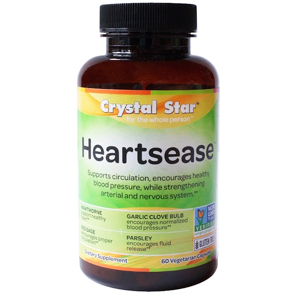 Crystal Star, Heartsease , 60 cápsulas vegetales (Discontinued Item)