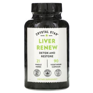 Crystal Star, Liver Renew, 90 Vegetarian Capsules