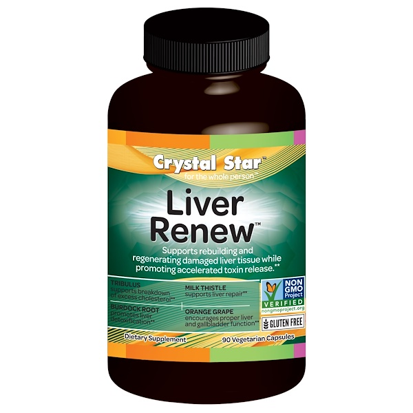 Crystal Star, Liver Renew, 90 Veggie Caps