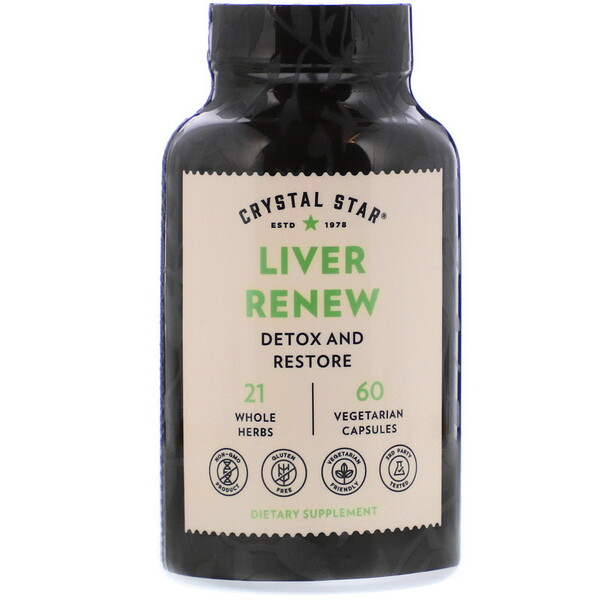 Crystal Star, Liver Renew, 60 Vegetarian Capsules