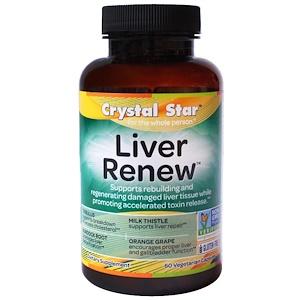 Crystal Star, Liver Renew (обновление печени), 60 вегетарианских капсул