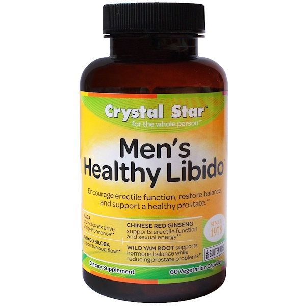 Crystal Star, Men's Libido, 60 Vegetarian Capsules