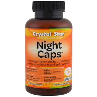Crystal Star, Night Caps, 60 Veggie Caps