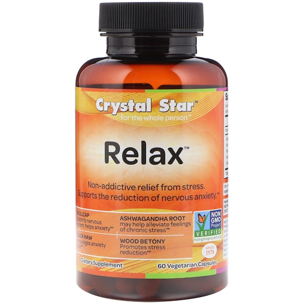 Crystal Star, Relax, 60 Cápsulas Vegetarianas (Discontinued Item)