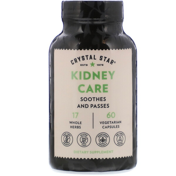 Crystal Star, Kidney Care, 60 Vegetarian Capsules